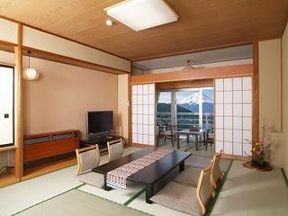 [和室10畳] 富士と湖が目の前