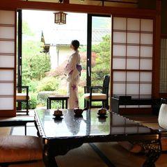 源泉かけ流し露天風呂付客室 【個室食】