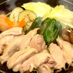 お肉と野菜を堪能するには鍋!名物上林鶏☆水炊き/すき焼きプラン