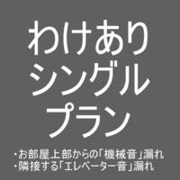 わけありシングルプラン【現金特価】【室数限定】