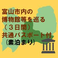 富山市内の博物館等を巡る(3日間)共通パスポート付 素泊まりプラン