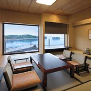 温泉露天風呂付きスイートルーム「松の間」 日本三景松島を望みながら温泉の贅を