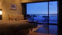 最上階芭蕉亭海側デザイナーズツイン「さくら」 デザイナーズ客室で松島の絶景を堪能
