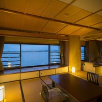 【パノラマビュー特別室】3室限定!目の前に広がる景色を独り占め〜柴山潟の絶景をお部屋から!