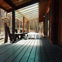 オシャレなログスウィートでカップル2組や家族で高原の休日宿泊プラン