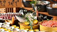 〆の雑炊は格別! 海鮮すきしゃぶ付き 〜プレミアムビュッフェ〜