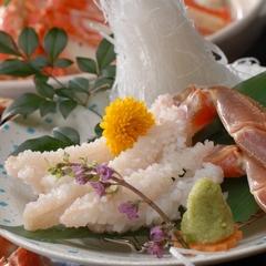 【タグ付活松葉がに堪能会席】蟹の王様!蟹刺し・焼き蟹などフルコースでご提供!特典付