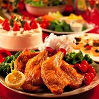 【冬得】クリスマスは温泉でポッカポカの夜をすごしましょう♪ シェフ特製のチキン&ケーキ付