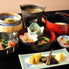 ■紫陽花会席(魚)■河豚白子豆腐・日本海の幸盛合せ・鰈柚餡焼・魚旨煮・海鮮焙烙焼(夕朝食付直前割引)
