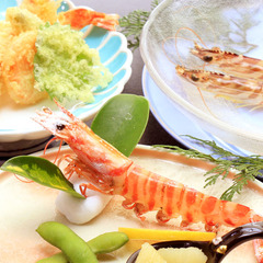 【三種の海老料理が楽しめる!】プリプリ海老プラン♪
