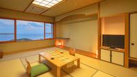 [和室12畳‐喫煙]海を見渡すおだやかな空間(海側)