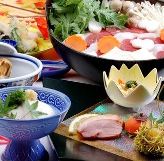 ≪食事評価5.0を獲得しました≫豆腐料理+イノシシ鍋の贅沢三味プラン−ファミリー版ー