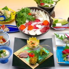 ≪食事評価5.0を獲得しました≫豆腐料理+イノシシ鍋の贅沢三味プラン