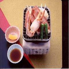 お一人様に蟹一杯付き冬の味覚を楽しむプラン+焼き蟹付きプラン