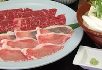 【とうふや名物・焼きしゃぶ①】「国産牛」と「ブランド豚」の食べ比べ!