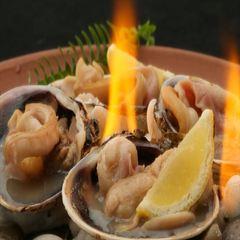 【渥美の味シリーズ】贅沢な1品!旬の地魚会席と当地名物を浜焼きで「大あさり付き お糸路プラン」