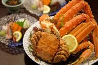 美味旬旅♪【三大カニを食す】人気のカニセットと地産地消ハーフブッフェ