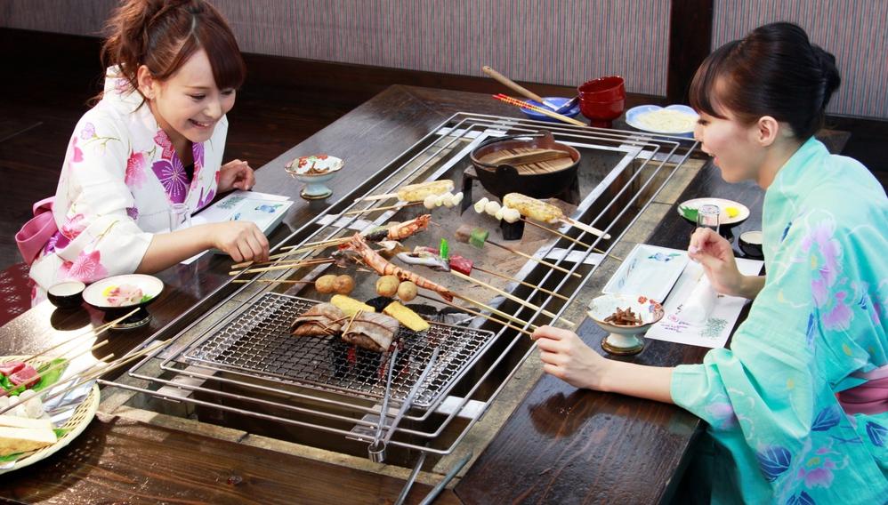 【囲炉裏で焼く!】炉ばた料理♪通常サービスのスタンダードな 1泊2食付 プラン