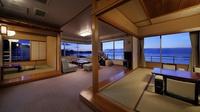 貴賓室(リビング+12畳+6畳+TWベッド+檜内風呂)