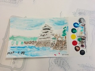 50歳以上限定!【松本城】の塗り絵葉書付、露天風呂付客室プラン【温泉】