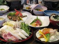 <冬>【お得な会席】 「寒ブリの味噌陶板焼き」「鴨のきりたんぽ鍋」「ハタハタの唐揚げ」