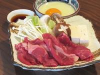 【贅沢な味覚】「錦牛すき焼き陶板」「ズワイガニ」「きりたんぽ鍋」「松茸料理2品」
