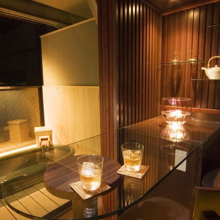 【縁★カップル】客室バーカウンターで粋にふたりの時間を楽しむカップルプラン【露天風呂付客室】
