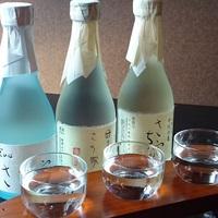 『さち家』オリジナルラベル!日本酒の3種利き酒セット付★「鯛の薄造りとかぶと煮」♪