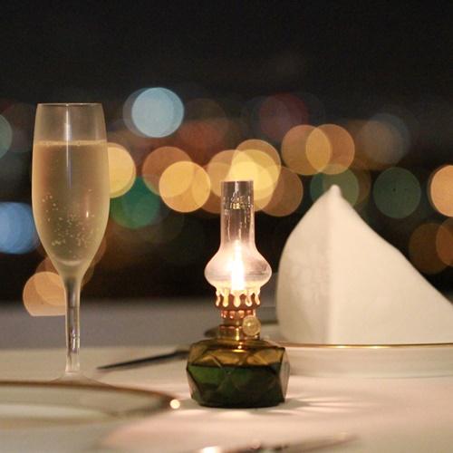 思い出の一夜に☆★星空のような夜景とゆったり味わうコースディナー★☆夕朝食&スパフリーパス付