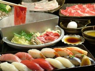 【1泊2食付】◆すき焼き・しゃぶしゃぶ・上生鮨コースチケット付き◆プラン