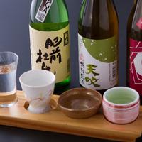 【飲み比べセット】佐賀のおいしい日本酒飲み比べ&A4等級佐賀産和牛すき焼き会席