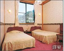洋室(天然温泉バス、トイレ付き:ユニット形式)