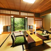 【露天風呂付き客室】<12畳+6畳>静けさと浸かる山中の温泉