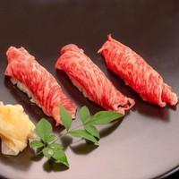 【ふくしまプライドおすすめ逸品:A5ランク福島牛の炙り寿司】バイキングメニューをちょっと贅沢に!!