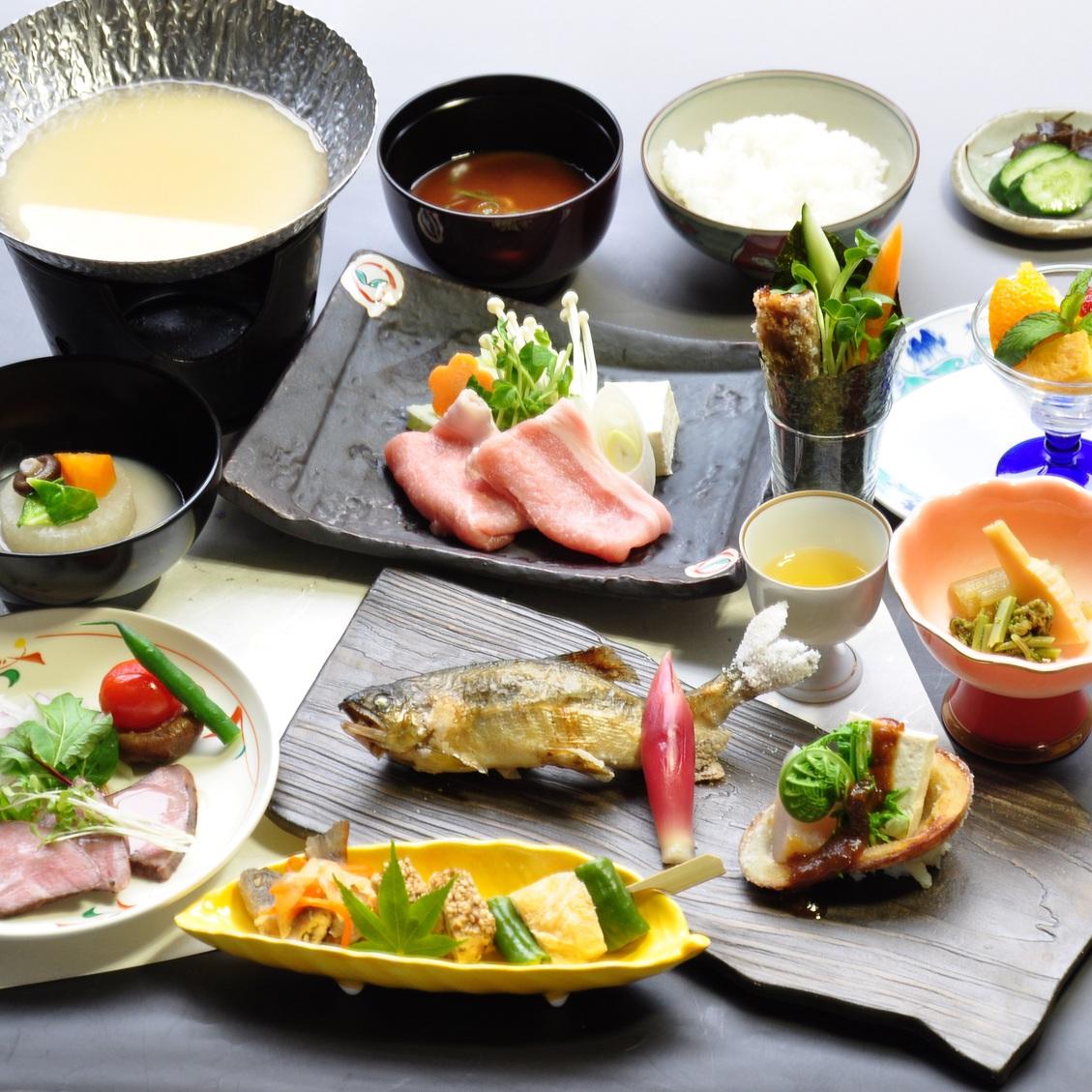 【楽パック限定】にし阿波の食材を愉しむ 旬の味覚を満喫 郷土料理堪能プラン!!