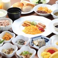朝食付プラン★野菜をふんだんに使った料理が人気のバイキングです♪★