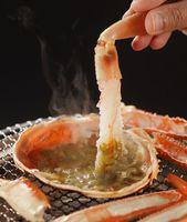 【大きい活ガニが食べたい!】大きい甲羅の<カニみそを刺身で食べれる!>1杯でも満腹プラン (松風)