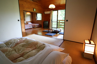 【ログハウス調コテージ】森の中に点在する非日常空間・貸切