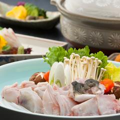 【冬の味覚】旬のふぐをお鍋で堪能!活ふぐちり鍋懐石