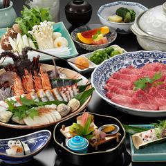 【早割30・みんなでお鍋!】新鮮魚介と特選和牛の選べるあったか鍋懐石