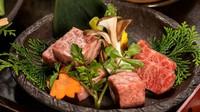 【囲炉裏秋グルメプラン】〜 炉会席 〜 「飛騨牛三種」「松茸」「囲炉裏料理」などを贅沢に味わえる