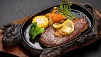 【ステーキ+鉄板蒸し焼きプラン】〜飛騨牛を違う味で楽しめる〜地元の味★鉄板蒸し焼きをお楽しみください