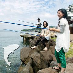 【獲ったど〜!気軽に釣りを満喫!】<お子様にも大人気>釣竿貸出&釣ったお魚は夕食時に調理してご提供♪