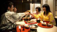 【萬松閣デラックス会席】■のど黒、伊勢海老の焼き物、能登牛ロースト、能登豚と合鴨の味噌豆乳鍋も