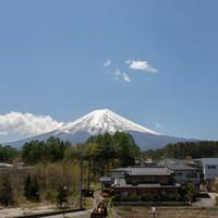 ぶらっと富士五湖へ・・・ 富士山側の見える広いお部屋を一人占め♪