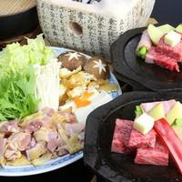 ★NEW★特製【冠地鶏鍋】と厳選牛【サイコロステーキ】と嬉しいWメインお料理プラン