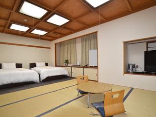 和洋室【全館禁煙】ベッド2台完備