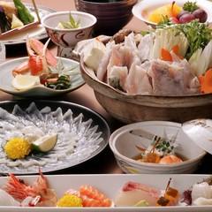 【会場食】ワケあり★ふくプラン〜ふくさし・ふくちり・ふく雑炊・ふく唐揚げ・ヒレ酒