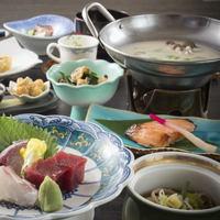 【基本グルメ】お手軽会席☆オリジナル豆乳鍋☆海山の幸豊富な富山で温泉を気軽に楽しむ♪