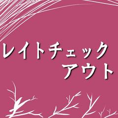 ■レイトチェックアウト■ チェックアウト正午まで延長無料 【朝食付】